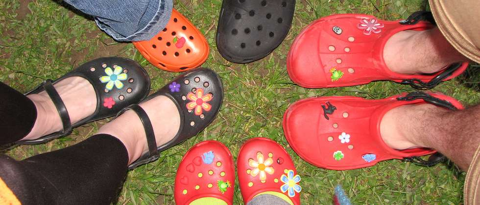 Colorful but a possible health risk. Many plastic clogs contain cancerous materials ( Flickr )