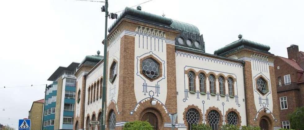 The Malmoe Synagogue, built in 1903, in Malmoe on May 19, 2013 ( John Macdougall (AFP/File) )