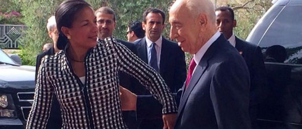Shimon Peres & Susan Rice ( Yonathan Rykner pour i24news )