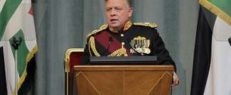 Jordan's King Abdullah II addresses the opening of the Jordanian Parliament in the capital Amman on Feb.10, 2013 ( AFP )