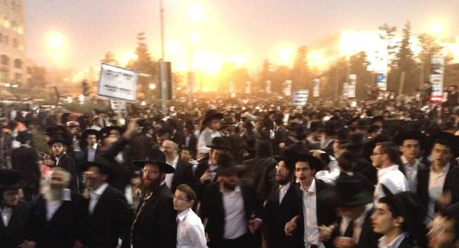 Manifestation des ultra-orthodoxes, Jerusalem ( Yoray Liberman )