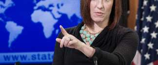 US State Department spokesperson Jen Psaki delivers remarks and responds to questions from the media January 7, 2014, in the briefing room at the Department of State in Washington, DC (Paul J. Richards  (AFP/File))